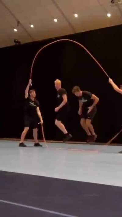 Double dutch with added flair