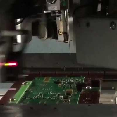 Machine that checks the connections on a circuit board