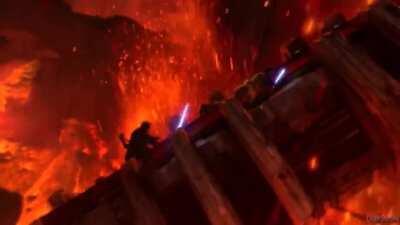 Anakin vs Obi Wan but its