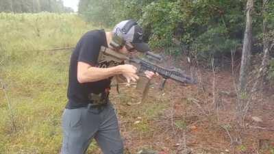 Proof that Bump Stock bans are pointless because of the ability to use physics.