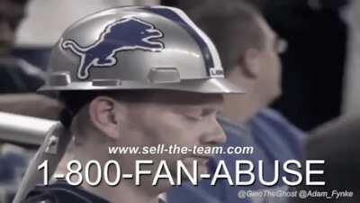 THEY NEED YOUR HELP! Powerful commercial against Detroit Lions Fan Abuse