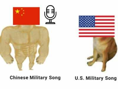 Virgin United States military song versus Chad China Military Song