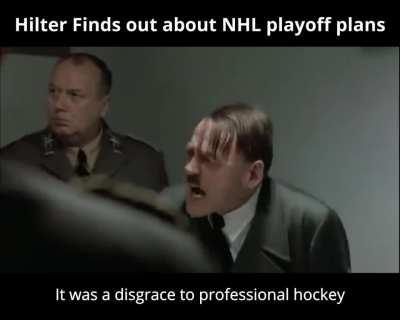 Hitler finds out about NHL's playoff plans