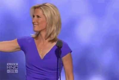 """Conservative"" Laura Ingram momentarily forgets which political rally she was attending."