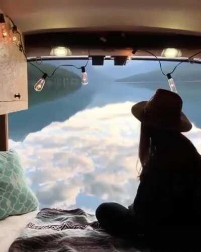 So There's A Girl At Bowman Lake, Montana.
