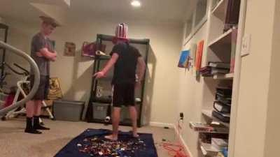 Backflipping onto Lego