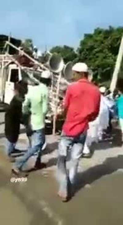 One more goddess pandal attacked by followers of peace