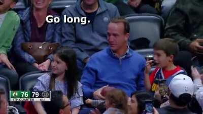 Peyton Manning can still throw the long ball.