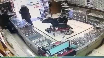 Disabled robber