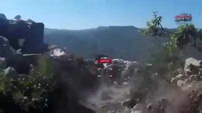 """""""Rouse the believers"""" raid on fortified Syrian Army positions in Norther Latakia two weeks ago."""