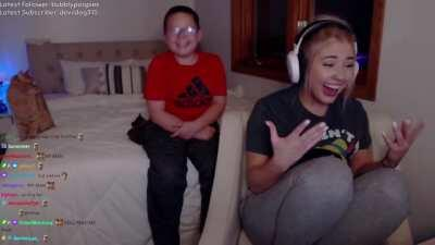 Little Brother wants sis to Take the L, live on Twitch.