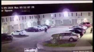 Shootout breaks out at apartment complex in Portsmouth, VA. While the shooting didn't have any injuries, there was damage done to the complex.