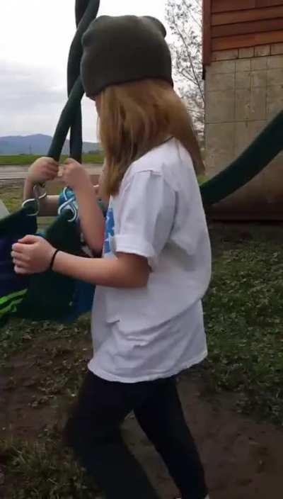 Some fun on the swing