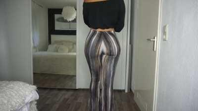 Flare pants look great on ALL women