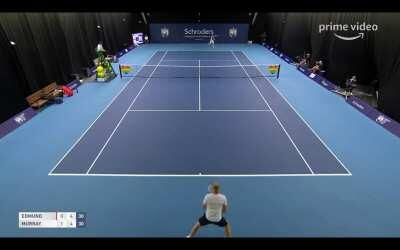 Andy Murray with a contender for strangest noise ever made on a tennis court.