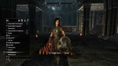 I placed 500+ mead bottles in Volkihar Cathedral just to do this...