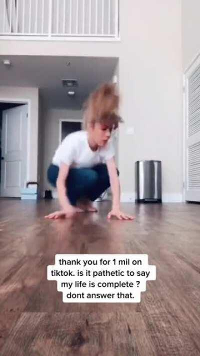 Dancing for 1 million followers