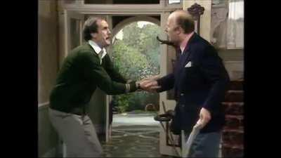 A great Fawlty Towers cut scream...