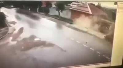 [Request] How fast was the wrecked car going (assuming this is playback at normal speed)