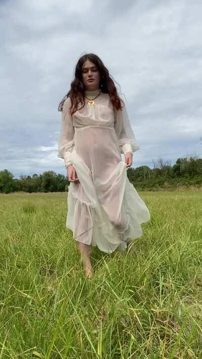 this dress is made for frolicking in the fields