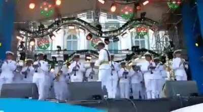 Indian navy band in Saint Petersburg