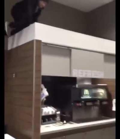Lemme jump above the soda machines