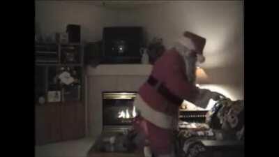 Santa sneaking in behind you