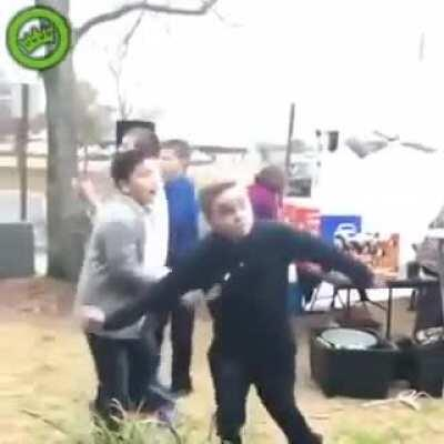 Kid Tries to Impress Girl by Dancing