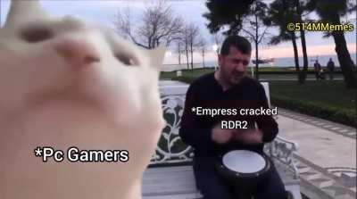 Me when I heard RDR2 got cracked