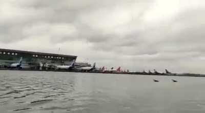 Kolkata Airport Flooding after Cyclone Amphan, 21-May-2020