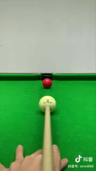Aim and technique for Billiards.