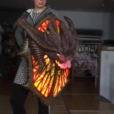 Amazing self-made shield. Credit: @KamuiCosplay