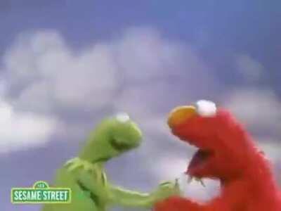 Elmo very sad