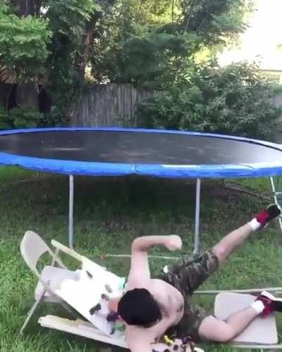Good use of trampoline