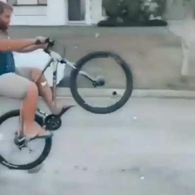 rearing the bike