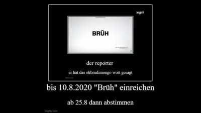 Brüh zum Jugendwort des Jahres 2020, Brüheim zur Hauptstadt 2025