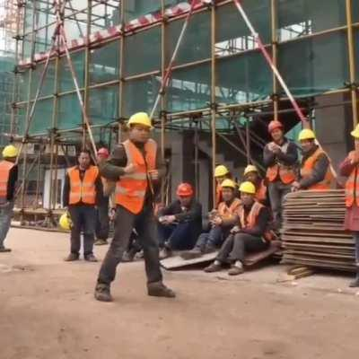 Dance at the construction site