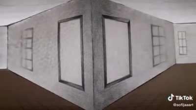 Inverse perspective illusion