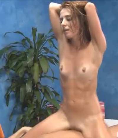 Skinny Girl Riding Cock