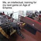 The only acceptable training method for Age of Empires