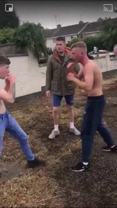 Strangely-civilised street fight in Ireland