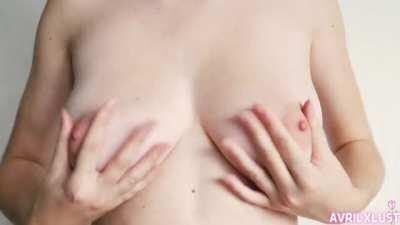 Pinching My Pink Puffy Nipples