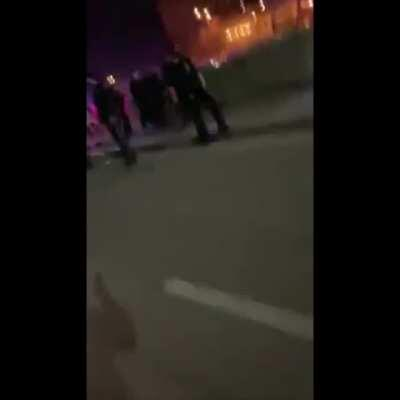 Group of protesters gets violent in Omaha after the death of a black man.