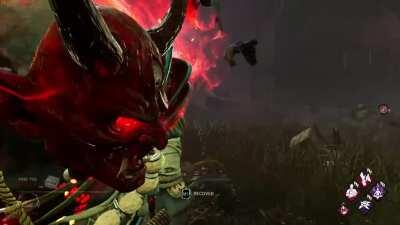 I was messing around in a Custom Game with my secondary account, and found out a way to see Oni's face through the mask