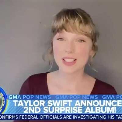 Taylor announcing evermore on GMA!