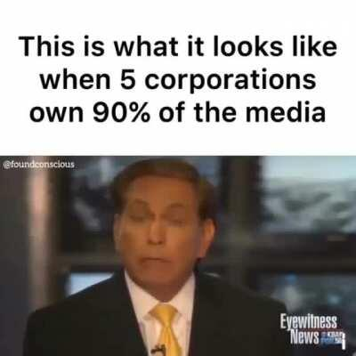 When 5 corporations own 90% of American media