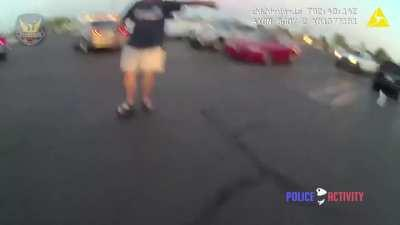 Charging at a cop with a knife