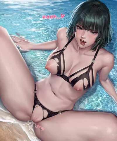 Fubuki fucked by the pool (Kidmo)