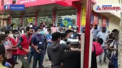 Bengaluru: Angry Muslim youth attacks guard on duty for stopping him from entering without a mask