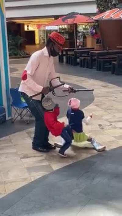South African street performer
